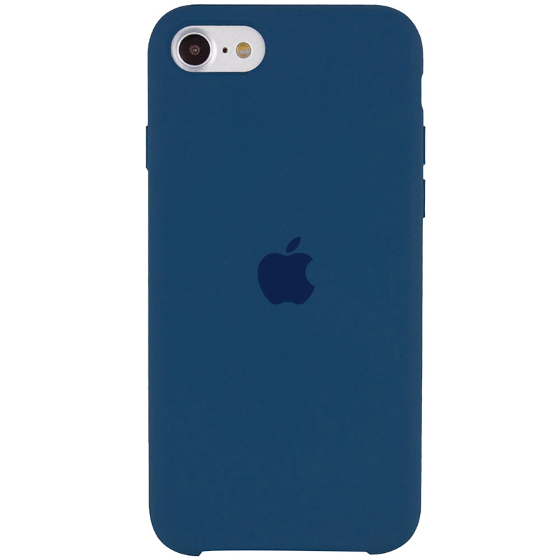 Чехол Silicone Case (AA) для Apple iPhone SE (2020) (Синий / Cosmos Blue)