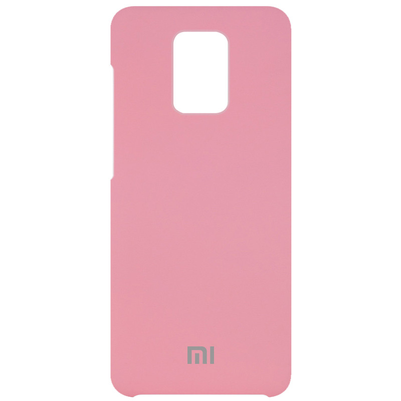 Чехол Silicone Cover (AAA) для Xiaomi Redmi Note 9s / Note 9 Pro / Note 9 Pro Max (Розовый / Light pink)