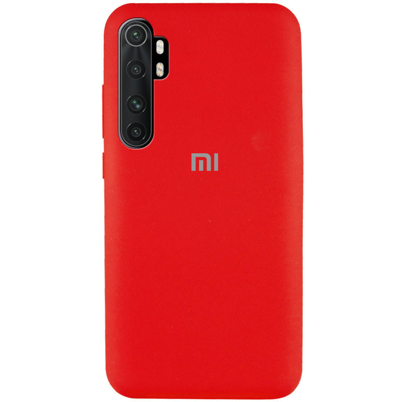 Чехол Silicone Cover Full Protective (AA) для Xiaomi Mi Note 10 Lite (Красный / Red)