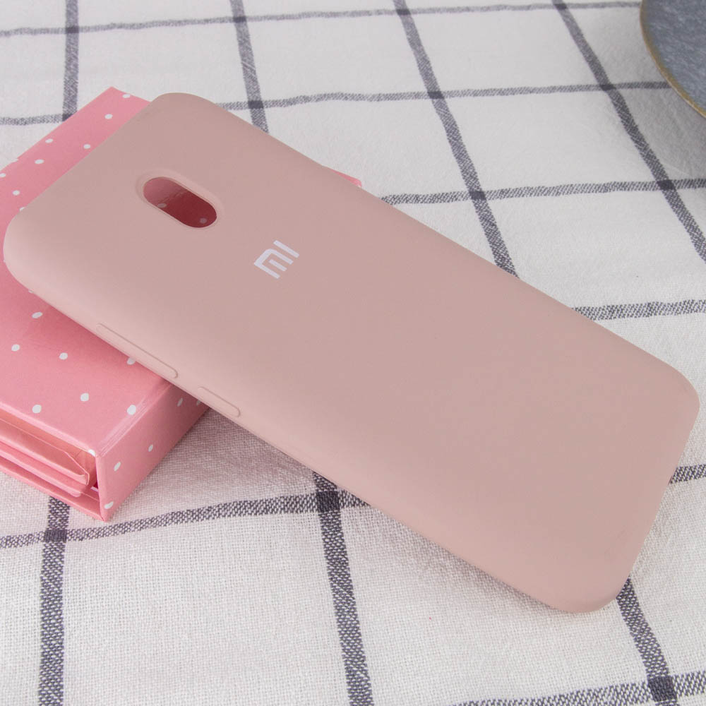 Чехол Silicone Cover Full Protective (AA) для Xiaomi Redmi 8a (Розовый / Pink Sand)