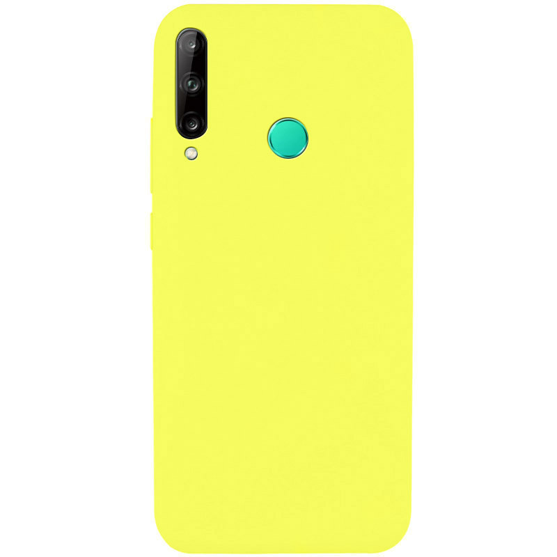 Чехол Silicone Cover Full without Logo (A) для Huawei P40 Lite E / Y7p (2020) (Желтый / Flash)