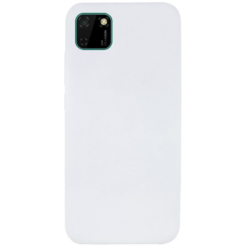 Чехол Silicone Cover Full without Logo (A) для Huawei Y5p (Белый / White)