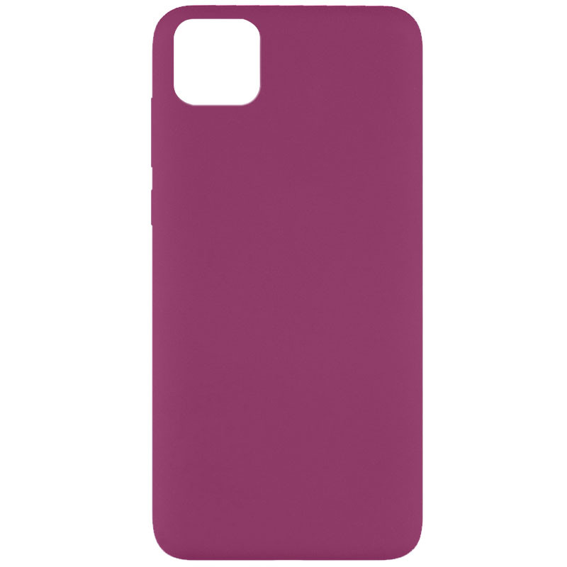 Чехол Silicone Cover Full without Logo (A) для Huawei Y5p (Бордовый / Marsala)