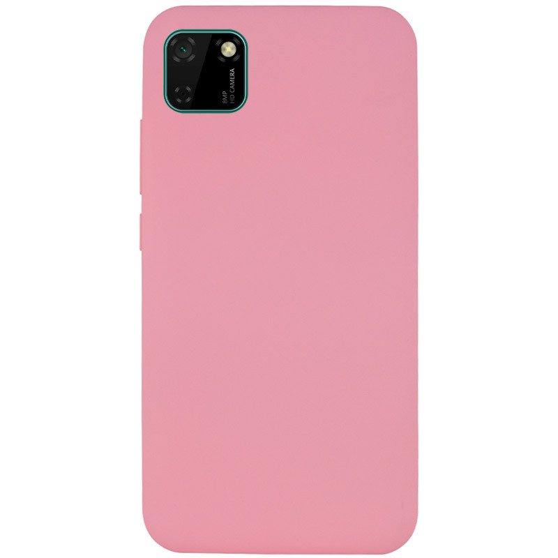Чехол Silicone Cover Full without Logo (A) для Huawei Y5p (Розовый / Pink)