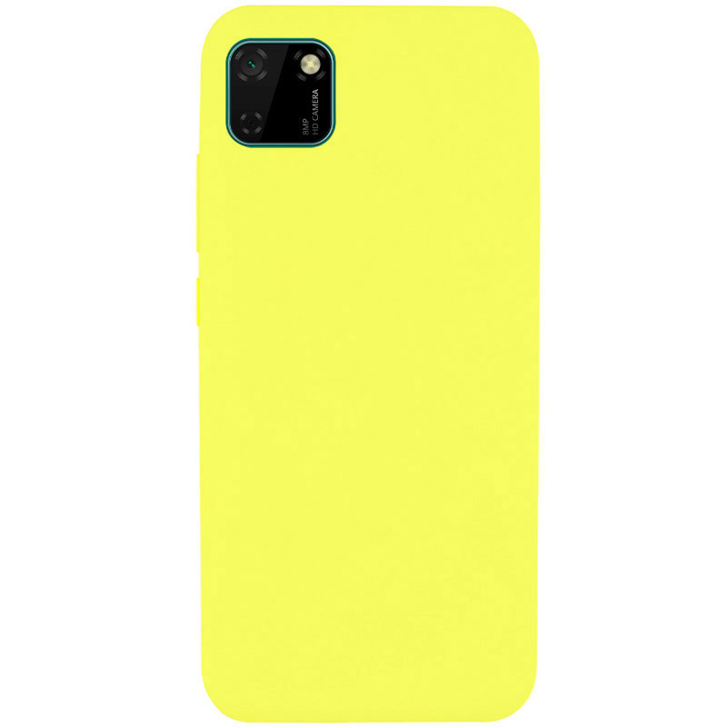 Чехол Silicone Cover Full without Logo (A) для Huawei Y5p (Желтый / Flash)