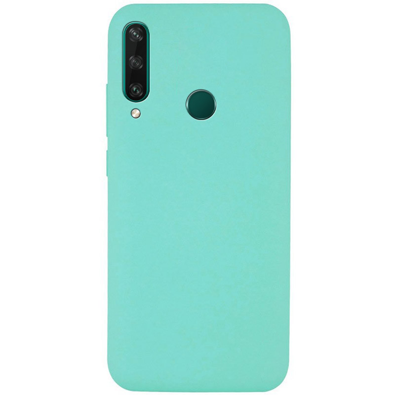 Чехол Silicone Cover Full without Logo (A) для Huawei Y6p (Бирюзовый / Ocean Blue)