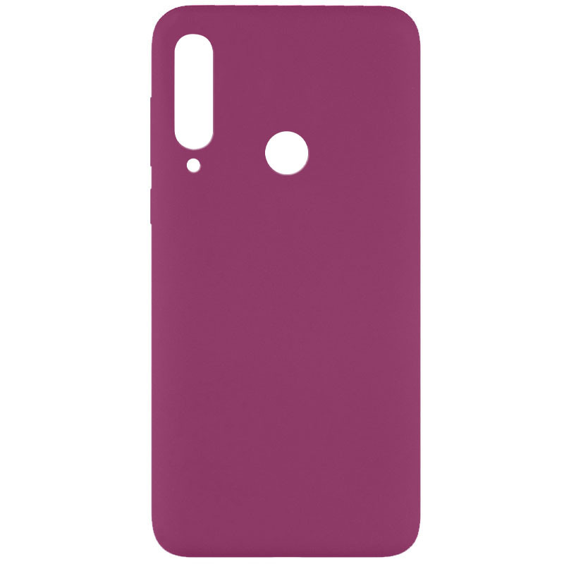 Чехол Silicone Cover Full without Logo (A) для Huawei Y6p (Бордовый / Marsala)