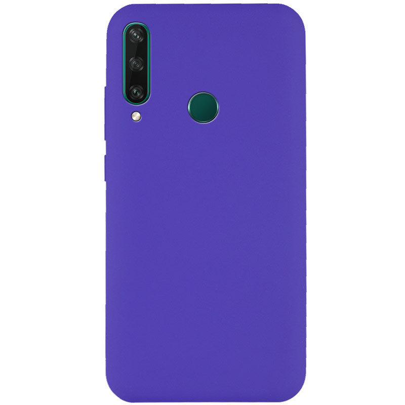 Чехол Silicone Cover Full without Logo (A) для Huawei Y6p (Фиолетовый / Purple)