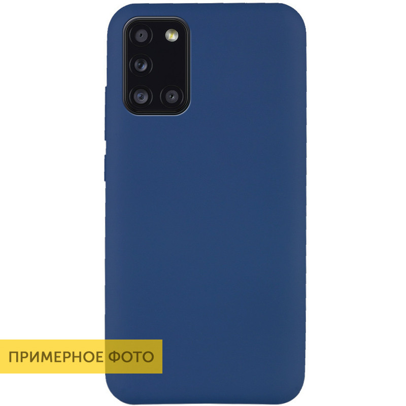 Чехол Silicone Cover Full without Logo (A) для Huawei Y6p (Синий / Navy blue)
