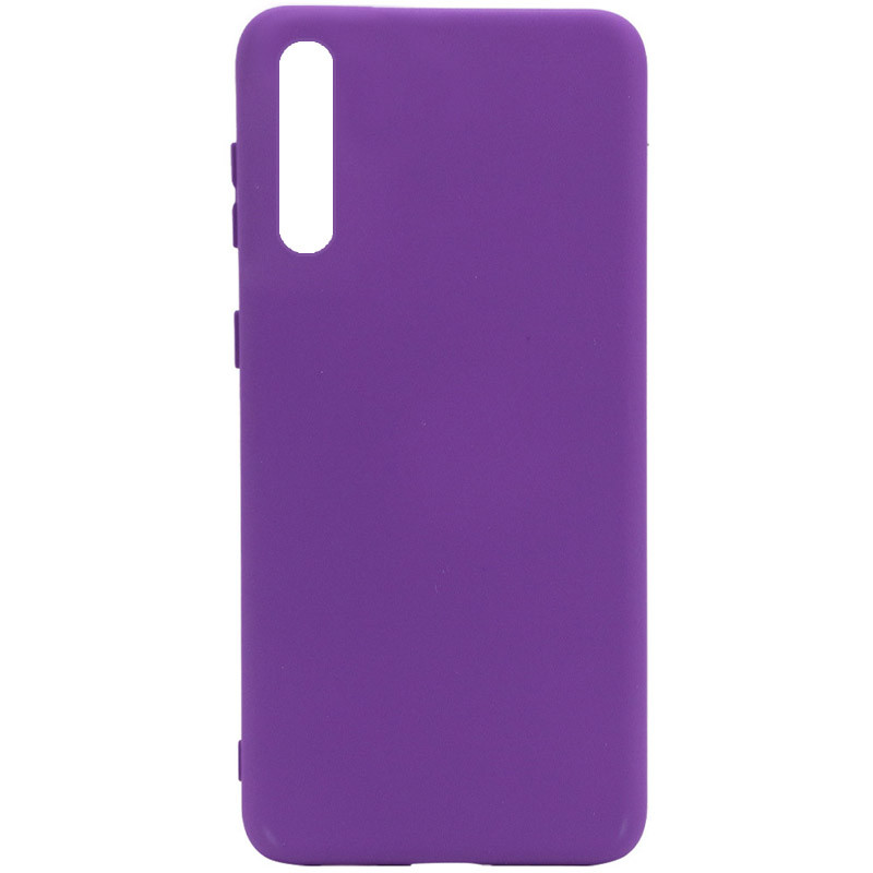 Чехол Silicone Cover Full without Logo (A) для Huawei Y8p (2020) / P Smart S (Фиолетовый / Purple)