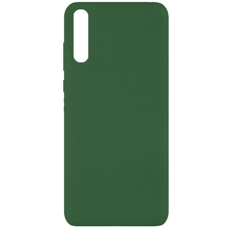 Чехол Silicone Cover Full without Logo (A) для Huawei Y8p (2020) / P Smart S (Зеленый / Dark green)