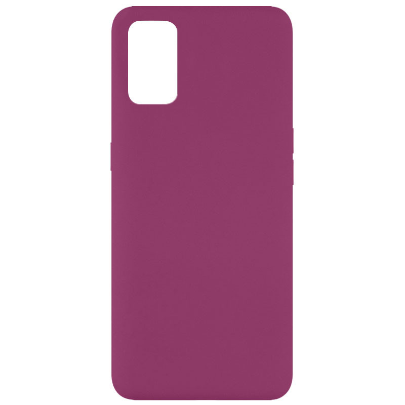 Чехол Silicone Cover Full without Logo (A) для Oppo A52 / A72 / A92 (Бордовый / Marsala)