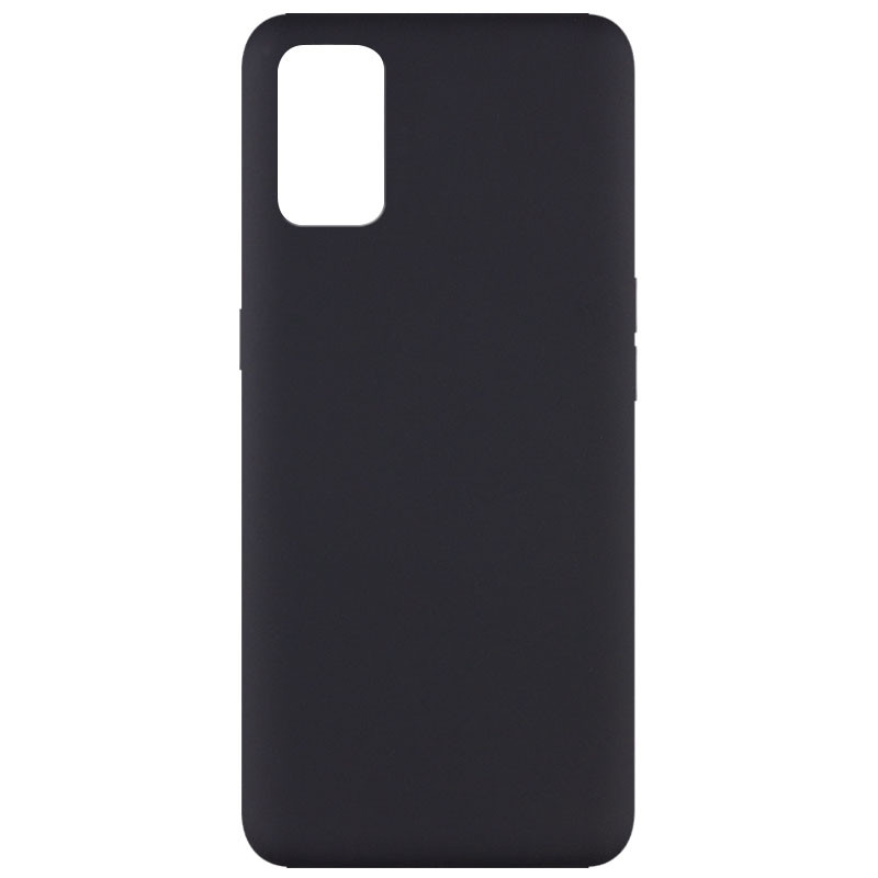 Чехол Silicone Cover Full without Logo (A) для Oppo A52 / A72 / A92 (Черный / Black)