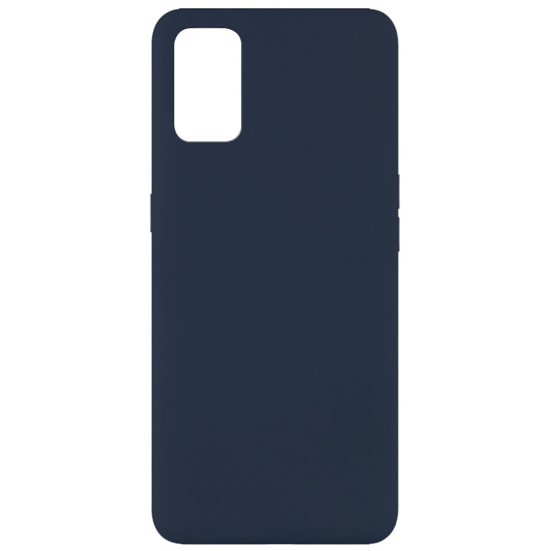 Чехол Silicone Cover Full without Logo (A) для Oppo A52 / A72 / A92 (Синий / Midnight blue)