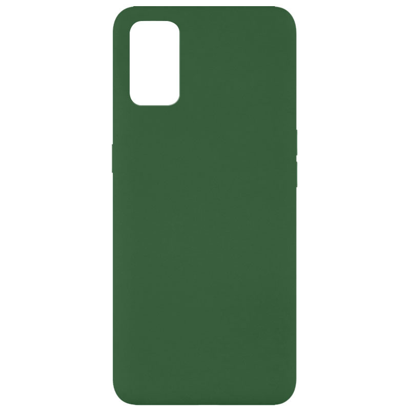 Чехол Silicone Cover Full without Logo (A) для Oppo A52 / A72 / A92 (Зеленый / Dark green)