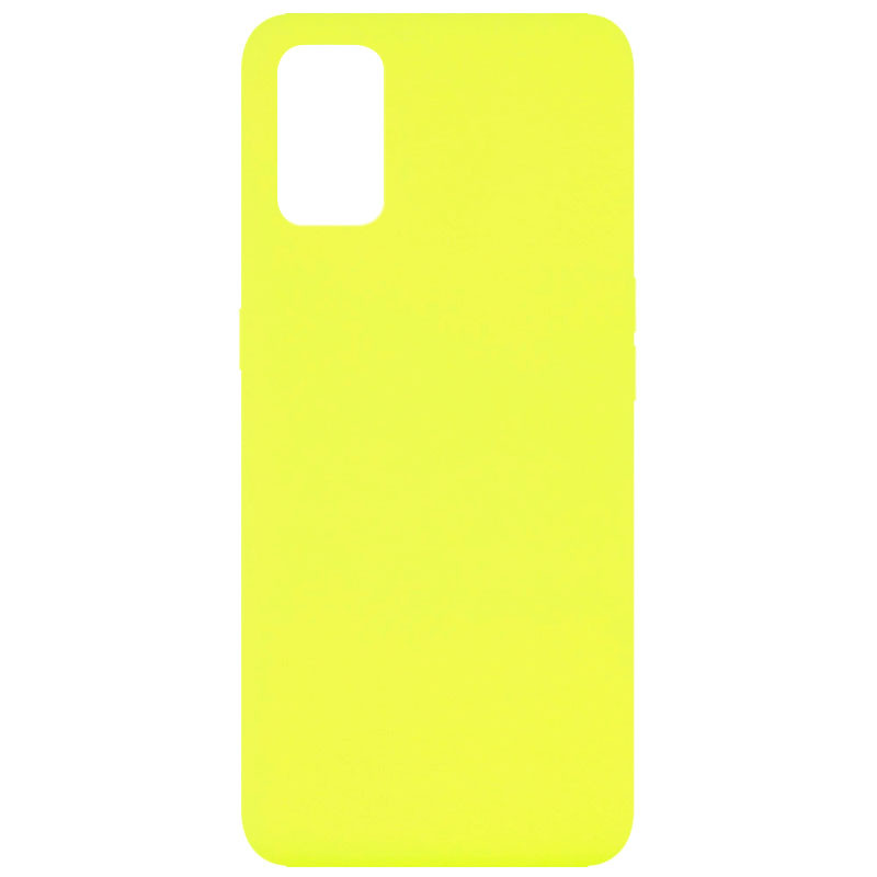 Чехол Silicone Cover Full without Logo (A) для Oppo A52 / A72 / A92 (Желтый / Flash)
