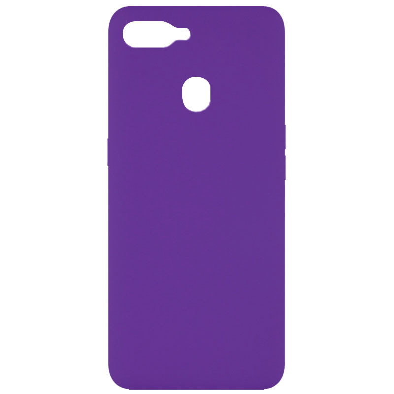 Чехол Silicone Cover Full without Logo (A) для Oppo A5s / Oppo A12 (Фиолетовый / Purple)