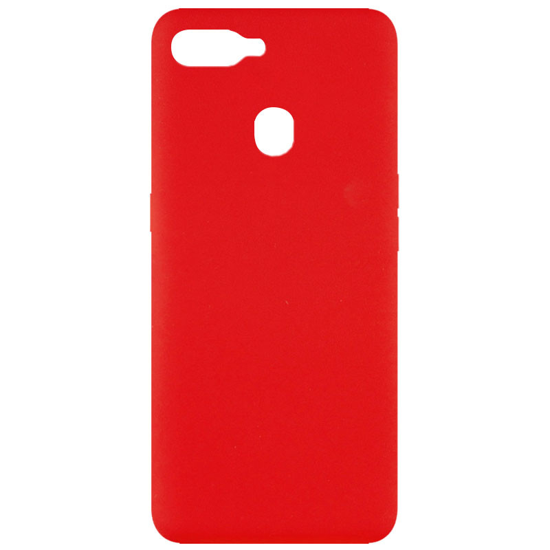 Чехол Silicone Cover Full without Logo (A) для Oppo A5s / Oppo A12 (Красный / Red)