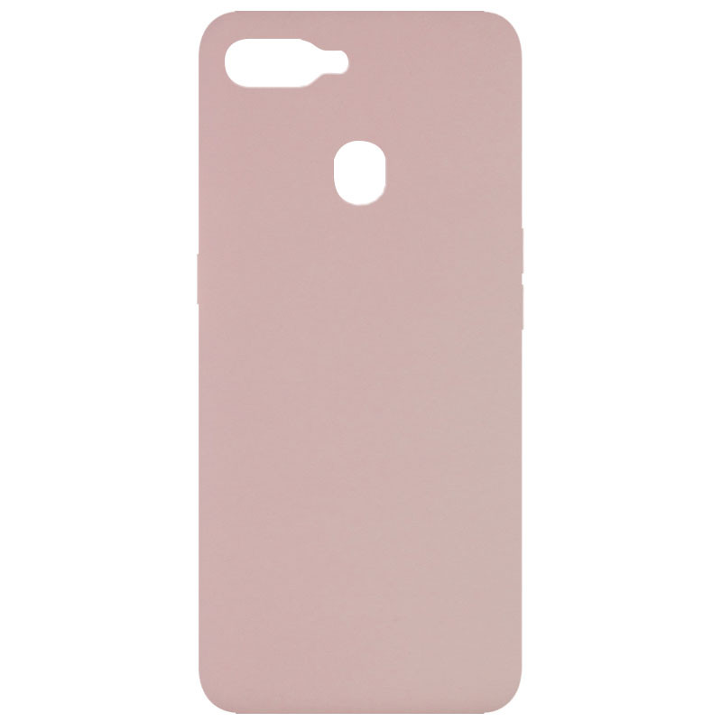 Чехол Silicone Cover Full without Logo (A) для Oppo A5s / Oppo A12 (Розовый / Pink Sand)