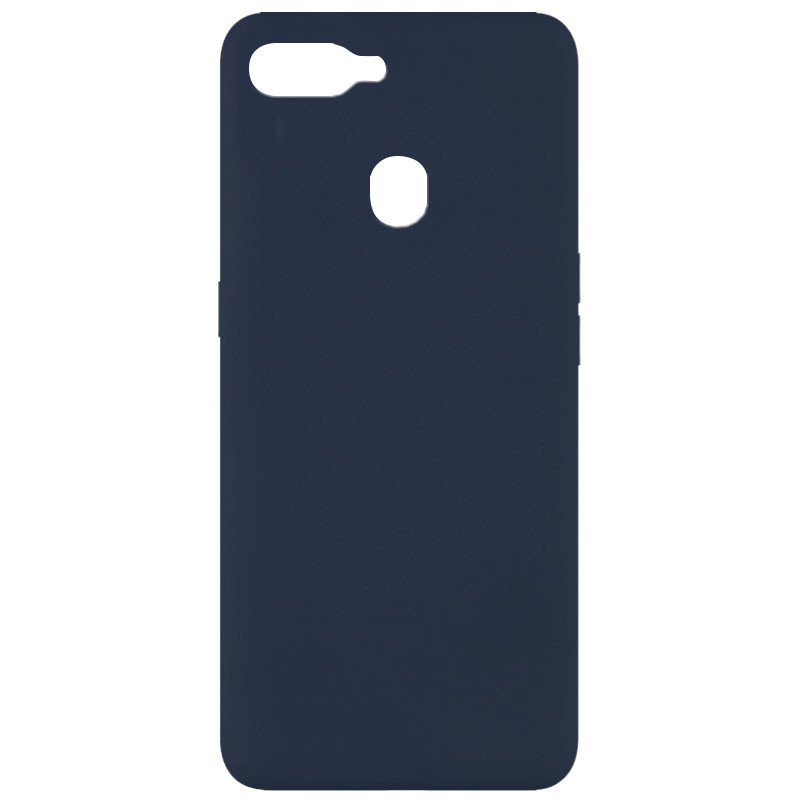 Чехол Silicone Cover Full without Logo (A) для Oppo A5s / Oppo A12 (Синий / Midnight blue)