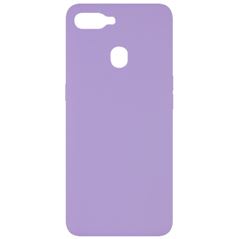 Чехол Silicone Cover Full without Logo (A) для Oppo A5s / Oppo A12 (Сиреневый / Dasheen)
