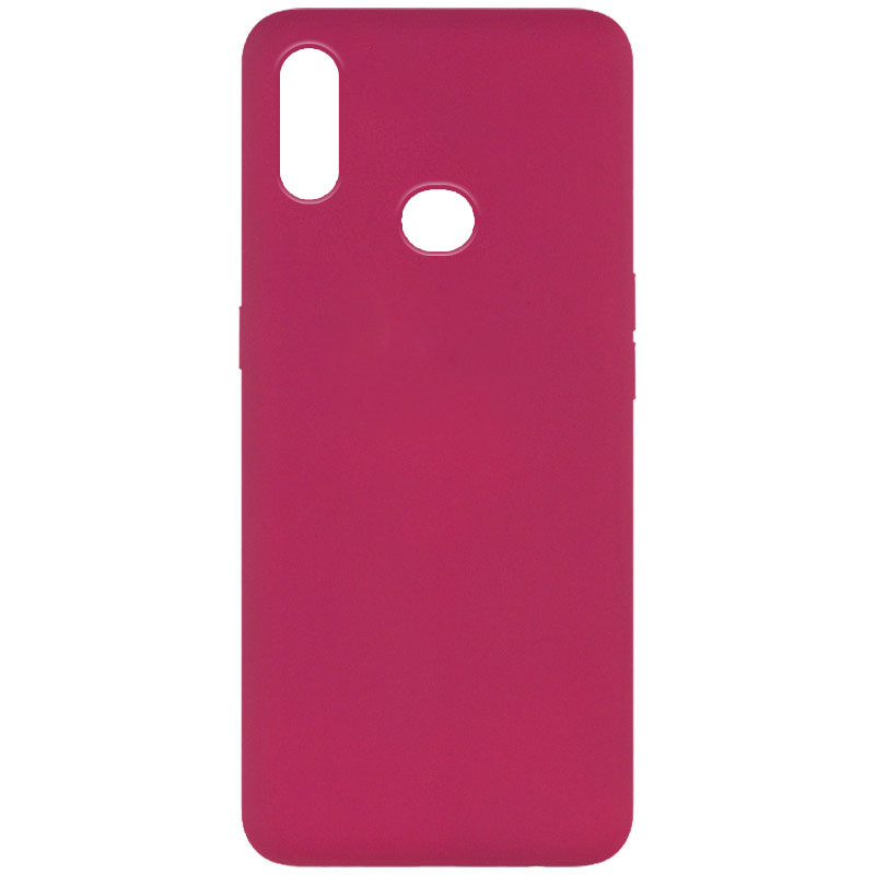Чехол Silicone Cover Full without Logo (A) для Samsung Galaxy A10s (Бордовый / Marsala)