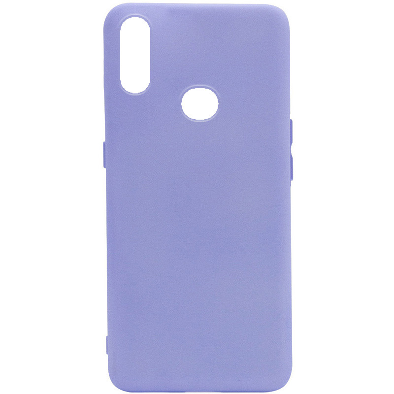 Чехол Silicone Cover Full without Logo (A) для Samsung Galaxy A10s (Сиреневый / Dasheen)