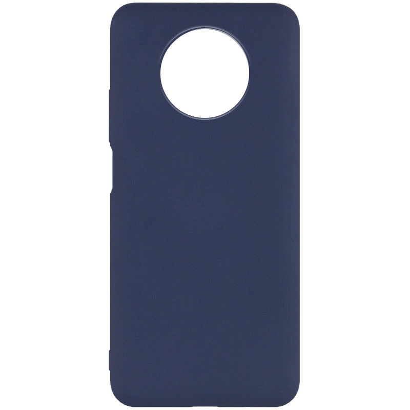 Чехол Silicone Cover Full without Logo (A) для Xiaomi Redmi Note 9 5G / Note 9T (Синий / Midnight blue)