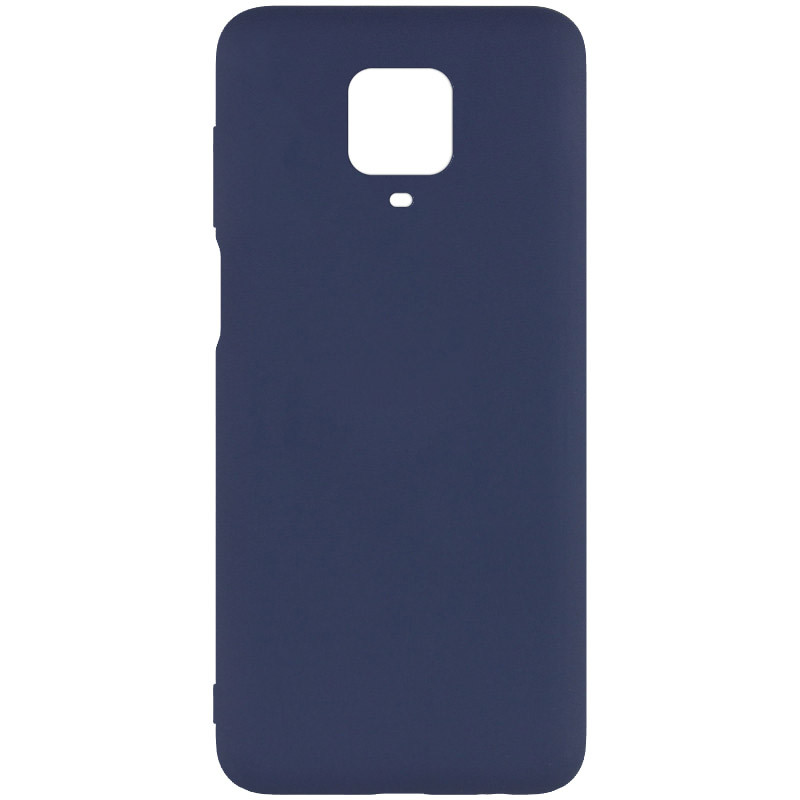 Чехол Silicone Cover Full without Logo (A) для Xiaomi Redmi Note 9s / Note 9 Pro / Note 9 Pro Max (Синий / Midnight blue)
