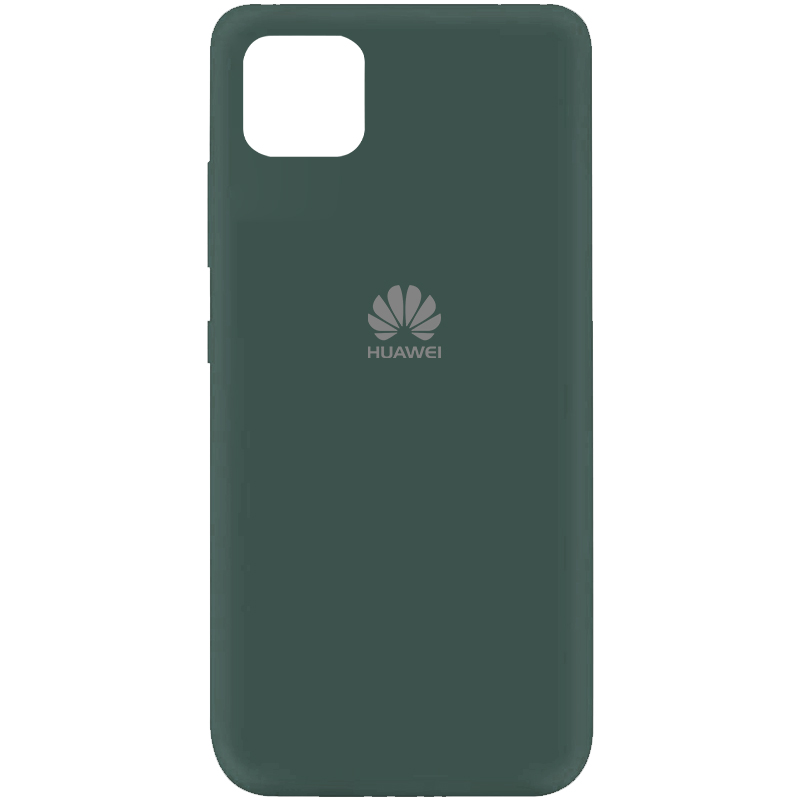 Чехол Silicone Cover My Color Full Protective (A) для Huawei Y5p (Зеленый / Pine green)