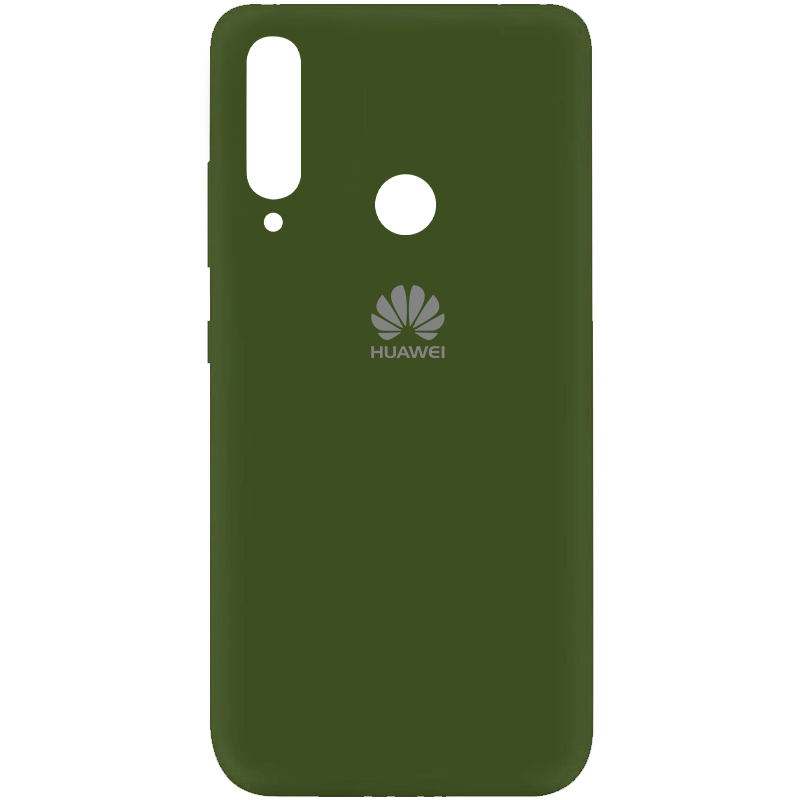 Чехол Silicone Cover My Color Full Protective (A) для Huawei Y6p (Зеленый / Forest green)