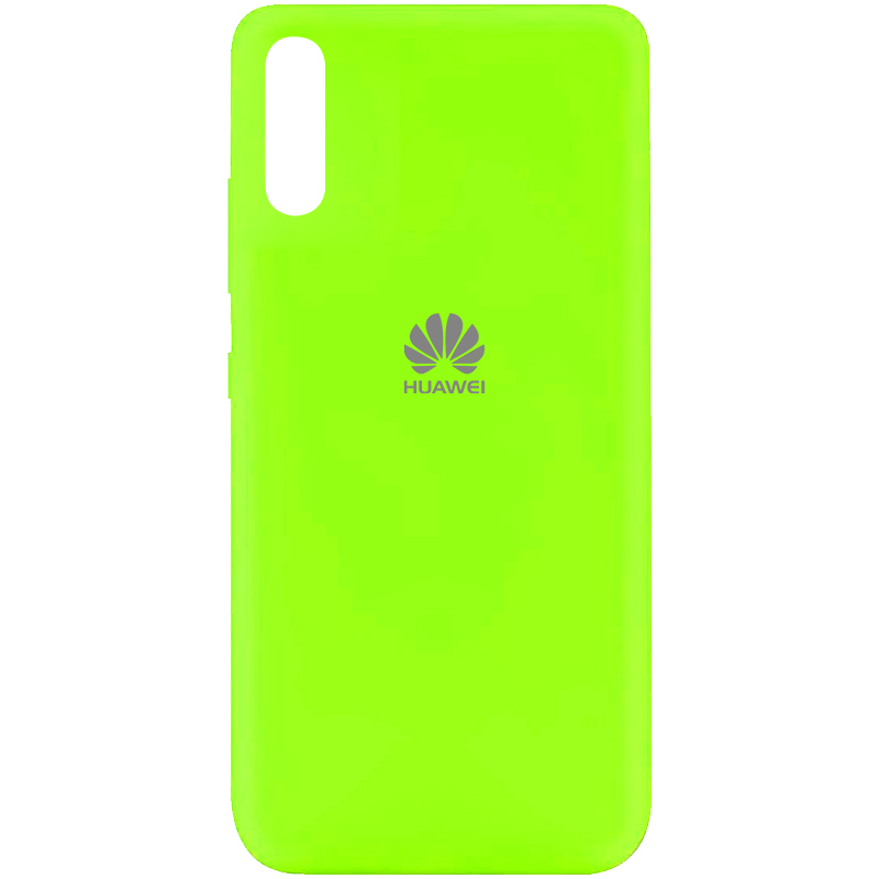 Чехол Silicone Cover My Color Full Protective (A) для Huawei Y8p (2020) / P Smart S (Салатовый / Neon green)