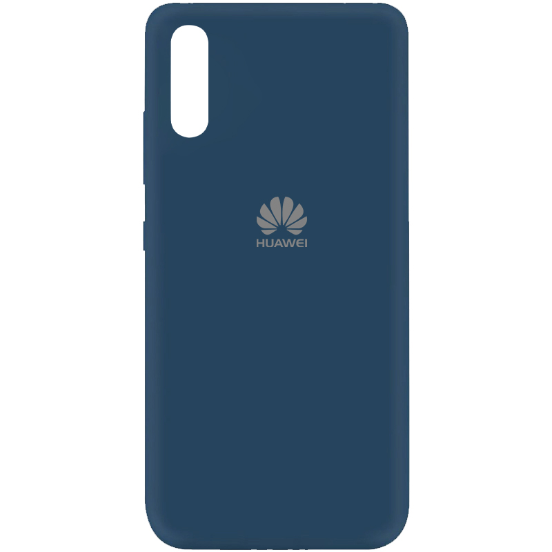 Чехол Silicone Cover My Color Full Protective (A) для Huawei Y8p (2020) / P Smart S (Синий / Navy blue)
