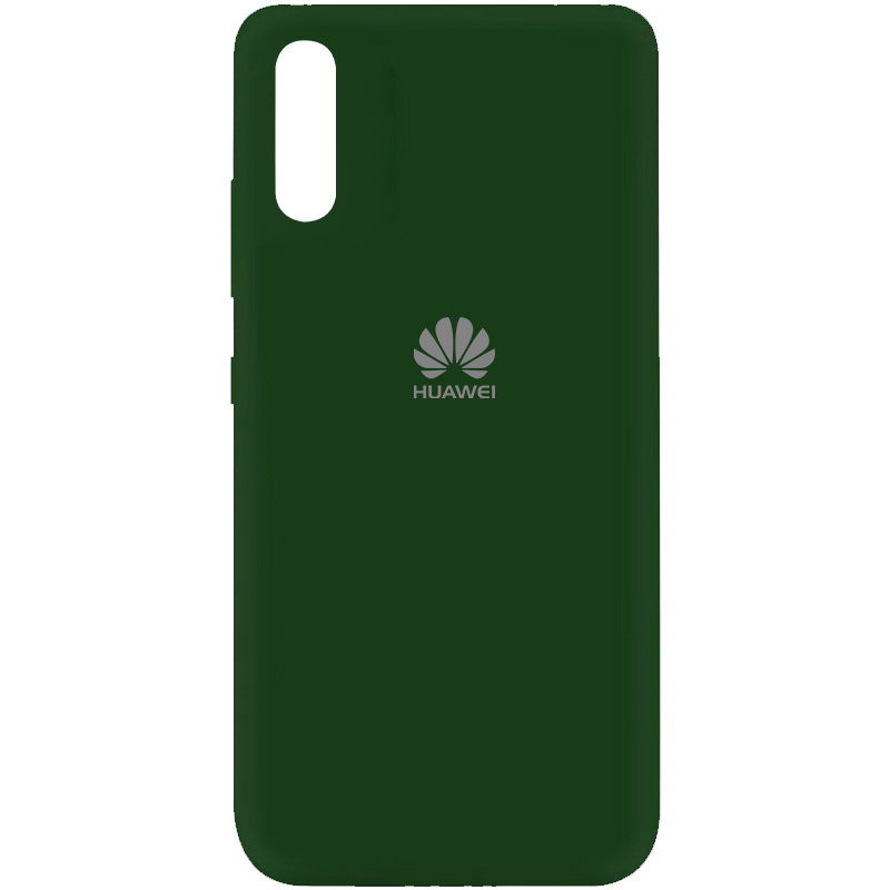 Чехол Silicone Cover My Color Full Protective (A) для Huawei Y8p (2020) / P Smart S (Зеленый / Dark green)