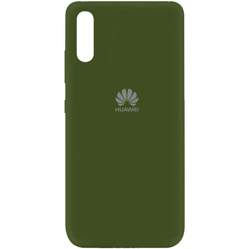 Чехол Silicone Cover My Color Full Protective (A) для Huawei Y8p (2020) / P Smart S (Зеленый / Forest green)