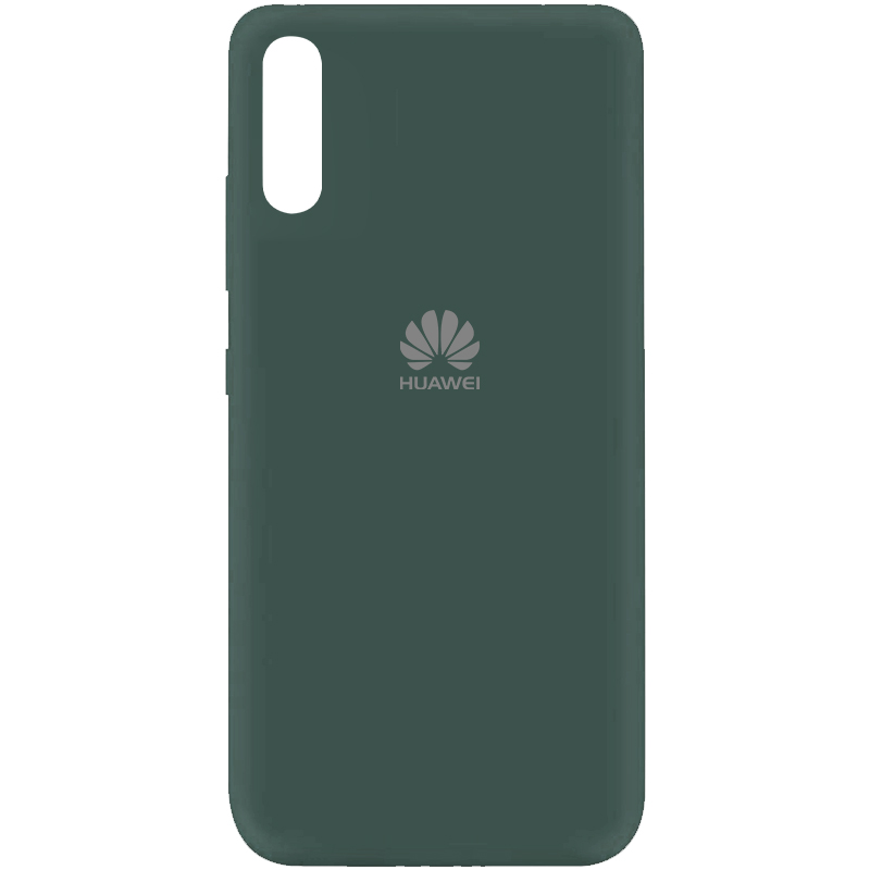 Чехол Silicone Cover My Color Full Protective (A) для Huawei Y8p (2020) / P Smart S (Зеленый / Pine green)