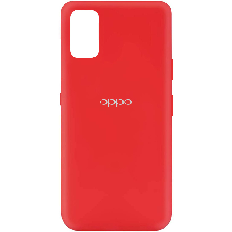Чехол Silicone Cover My Color Full Protective (A) для Oppo A52 / A72 / A92 (Красный / Red)