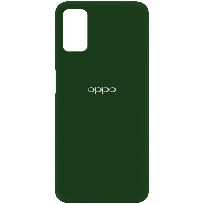 Чехол Silicone Cover My Color Full Protective (A) для Oppo A52 / A72 / A92 (Зеленый / Dark green)