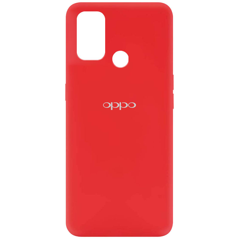 Чехол Silicone Cover My Color Full Protective (A) для Oppo A53 / A32 / A33 (Красный / Red)