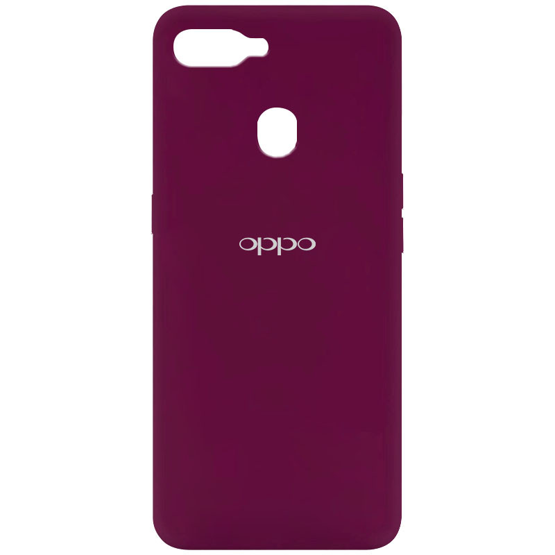 Чехол Silicone Cover My Color Full Protective (A) для Oppo A5s / Oppo A12 (Бордовый / Marsala)