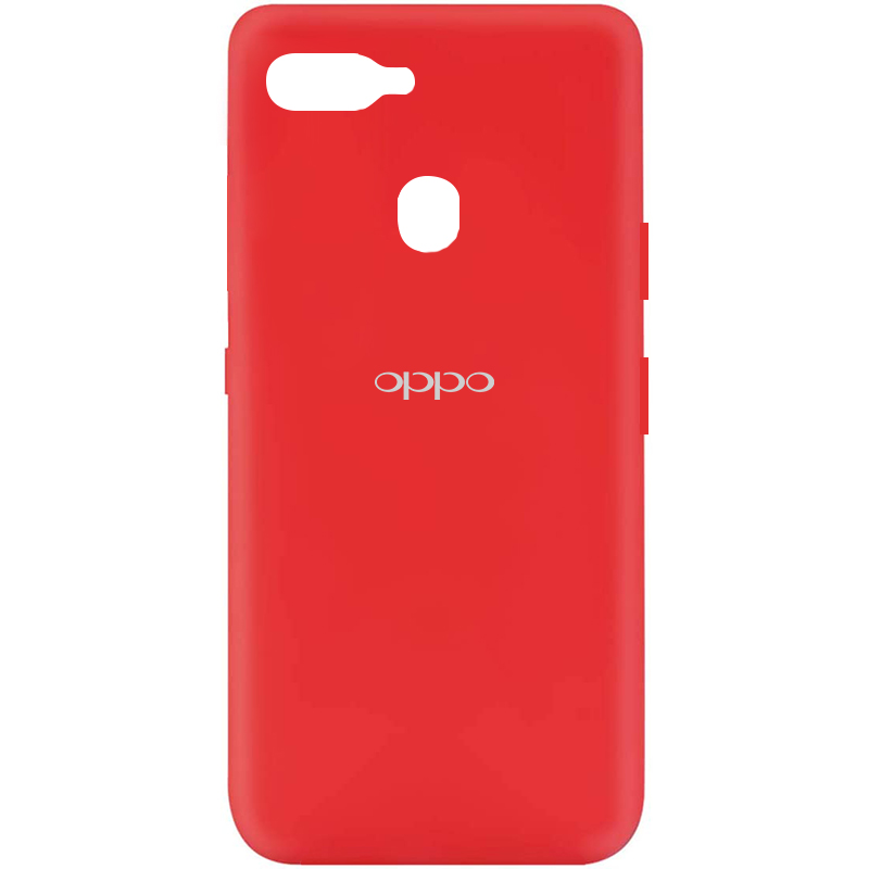 Чехол Silicone Cover My Color Full Protective (A) для Oppo A5s / Oppo A12 (Красный / Red)