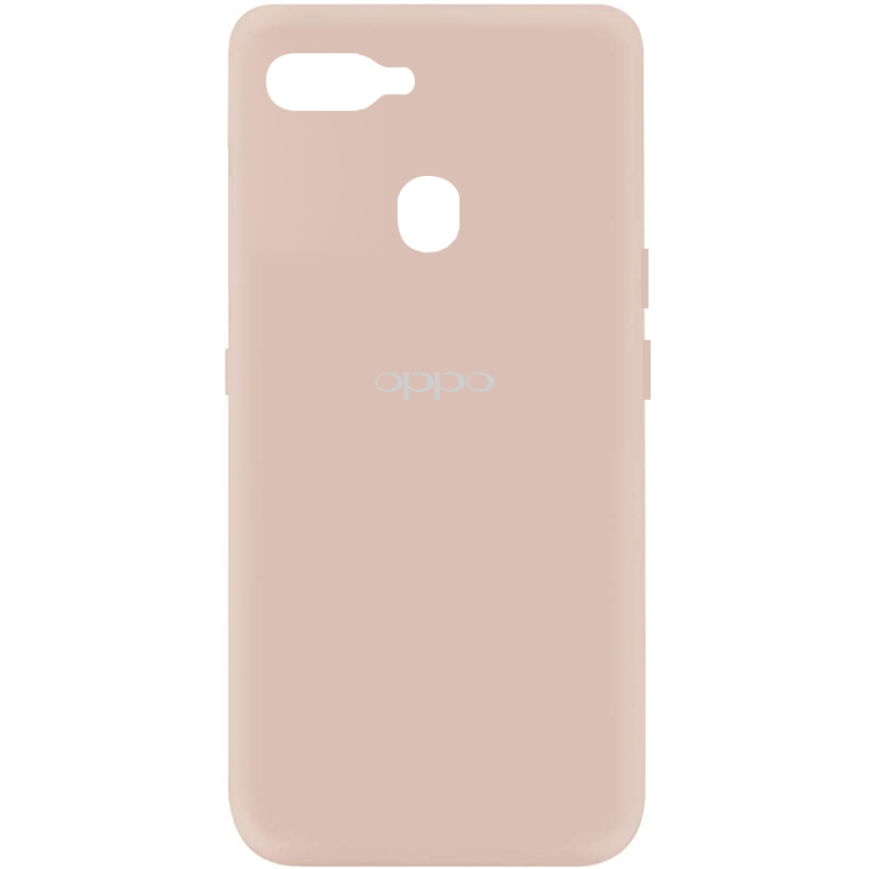 Чехол Silicone Cover My Color Full Protective (A) для Oppo A5s / Oppo A12 (Розовый / Pink Sand)