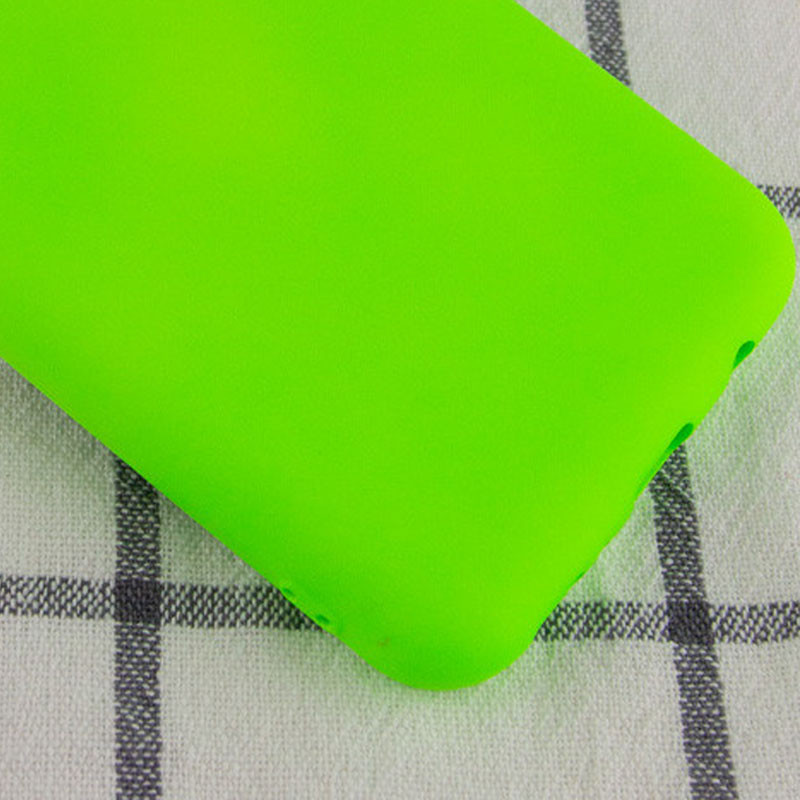 Чехол Silicone Cover My Color Full Protective (A) для Oppo A5s / Oppo A12 (Салатовый / Neon green)