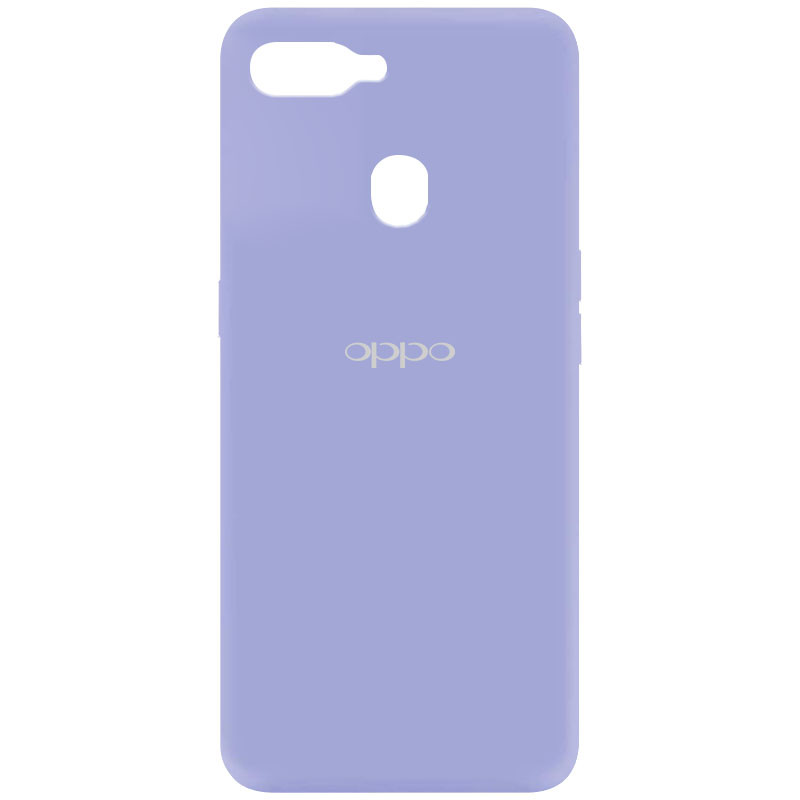 Чехол Silicone Cover My Color Full Protective (A) для Oppo A5s / Oppo A12 (Сиреневый / Dasheen)