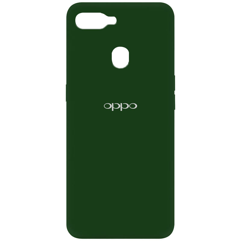 Чехол Silicone Cover My Color Full Protective (A) для Oppo A5s / Oppo A12 (Зеленый / Dark green)