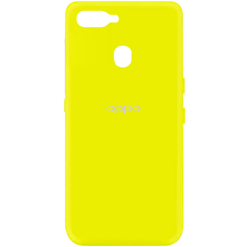Чехол Silicone Cover My Color Full Protective (A) для Oppo A5s / Oppo A12 (Желтый / Flash)