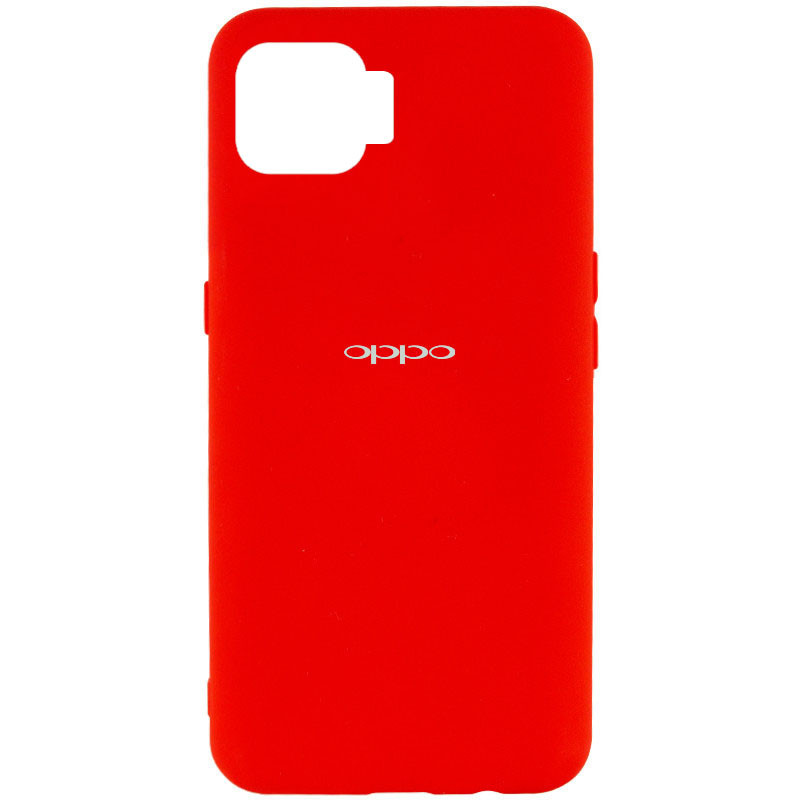 Чехол Silicone Cover My Color Full Protective (A) для Oppo A73 (Красный / Red)
