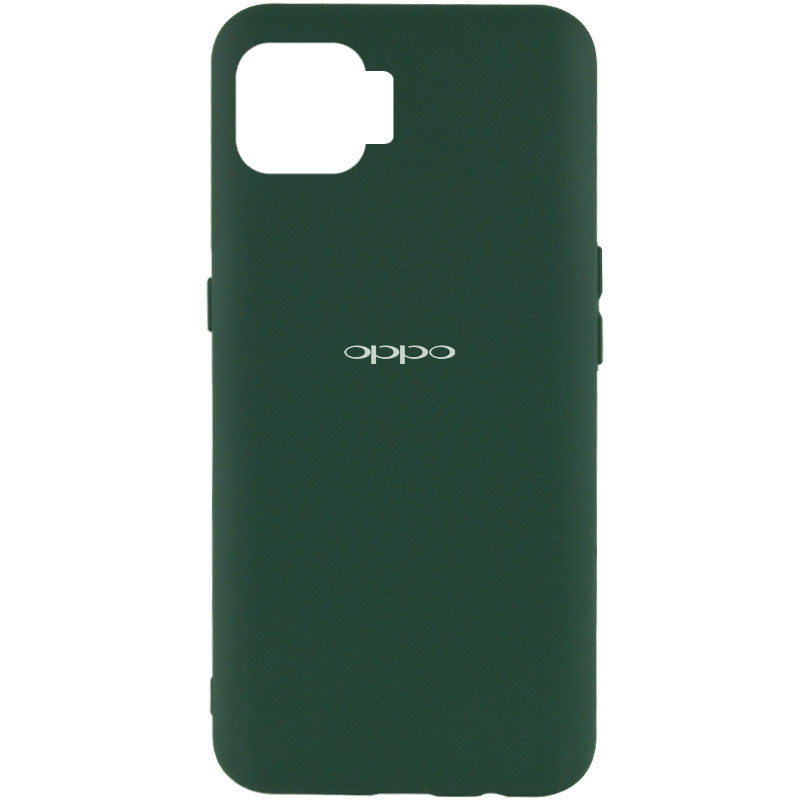 Чехол Silicone Cover My Color Full Protective (A) для Oppo A73 (Зеленый / Dark green)
