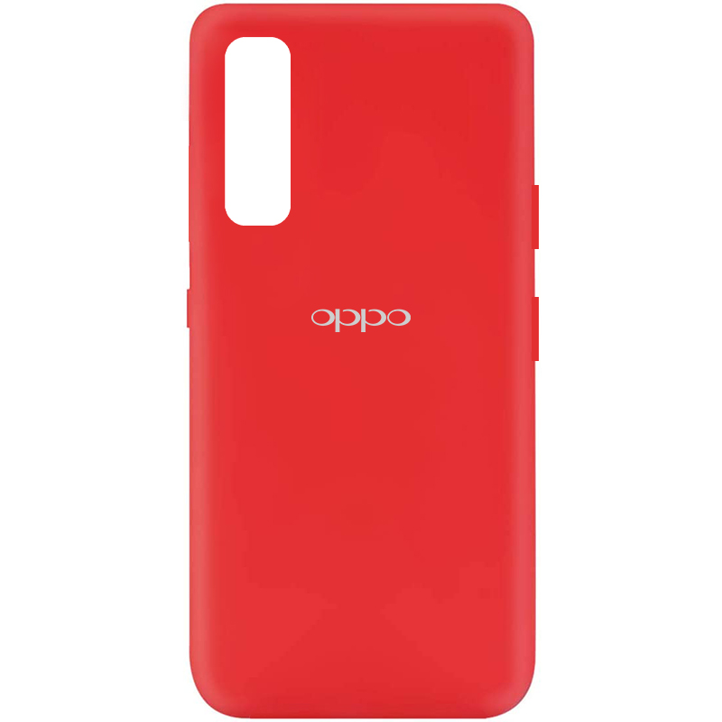 Чехол Silicone Cover My Color Full Protective (A) для Oppo Reno 3 Pro (Красный / Red)