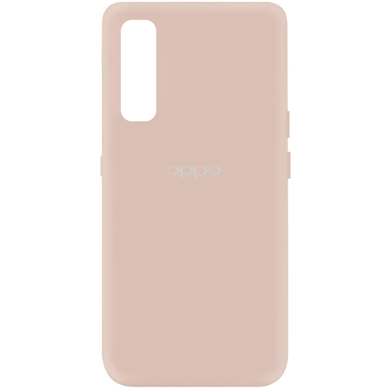 Чехол Silicone Cover My Color Full Protective (A) для Oppo Reno 3 Pro (Розовый / Pink Sand)
